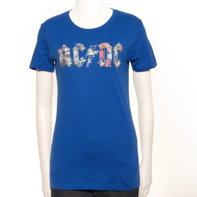 AC/DC Blue Ladies Icon T-Shirt