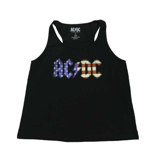 AC/DC Women's Tattered Flag Tank Top