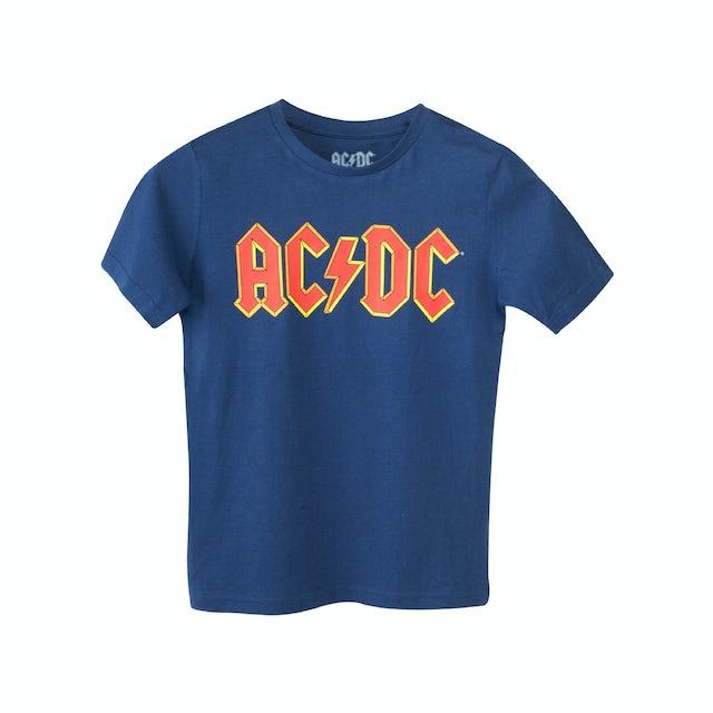 AC/DC Blue Red Logo Kids T-Shirt