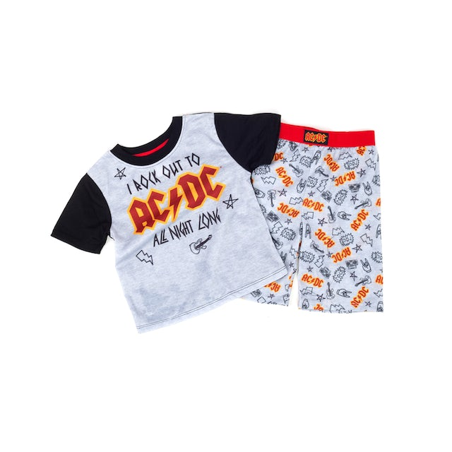 I Want to Rock out to AC/DC Grey T-Shirt/Pants Combo