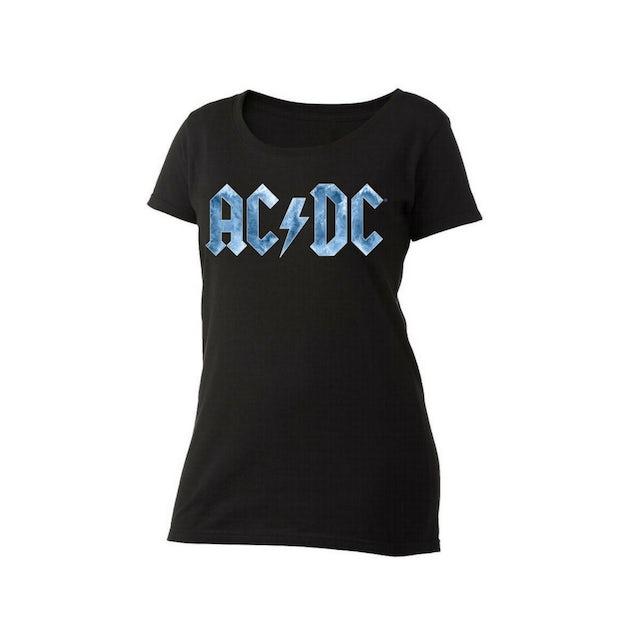 AC/DC Ice Logo Women's Scoop Neck T-Shirt