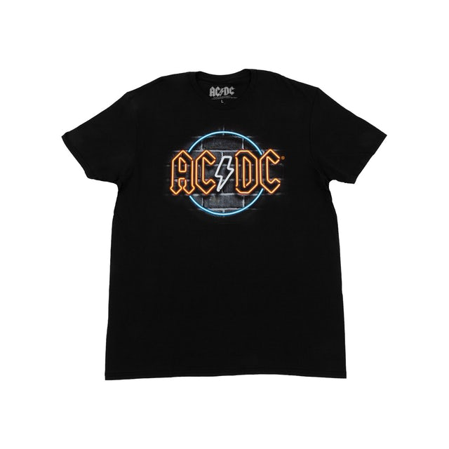 AC/DC Neon Sign Logo Black T-Shirt