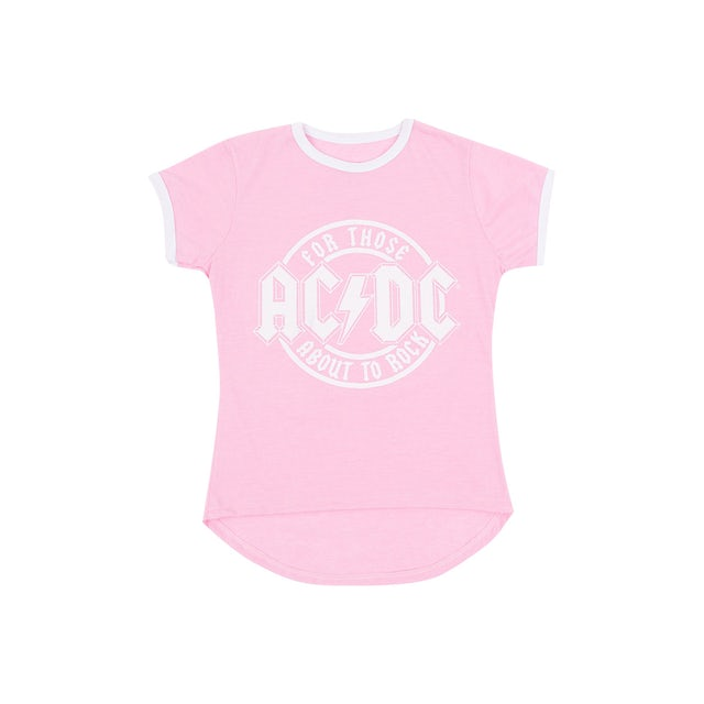 AC/DC For Those About to Rock Kid's Pink T-shirt