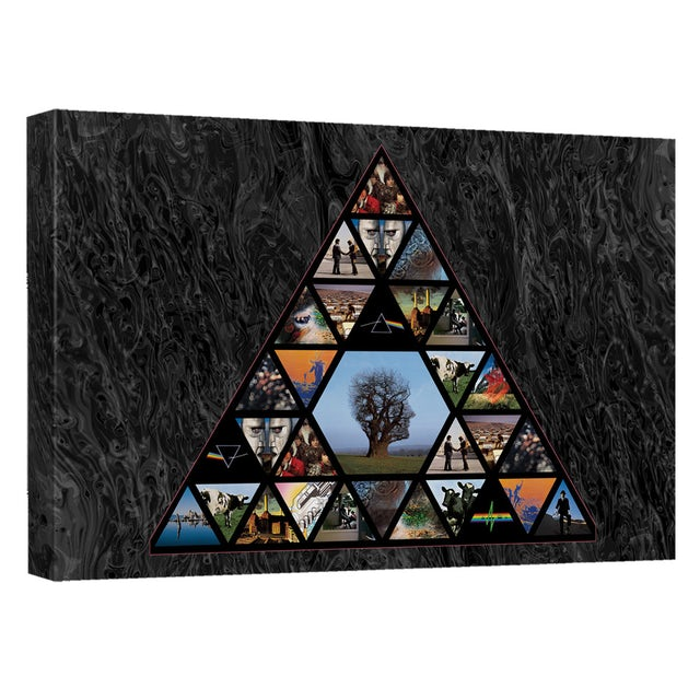 Pink Floyd/Pyramid-Canvas Wall Art With Back Board-White-[20 X 30]