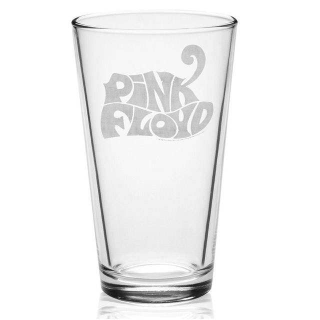Pink Floyd Cheetah Logo Etched Pint Glass