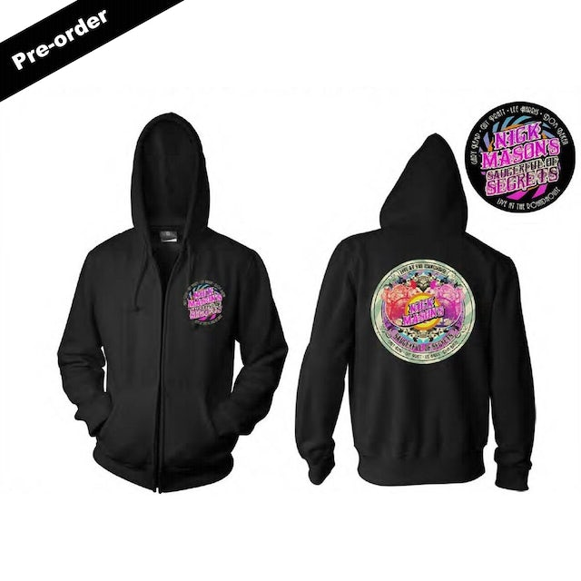 Pink Floyd Nick Mason's Saucerful of Secrets Live at the Roundhouse Black Zip Hoodie