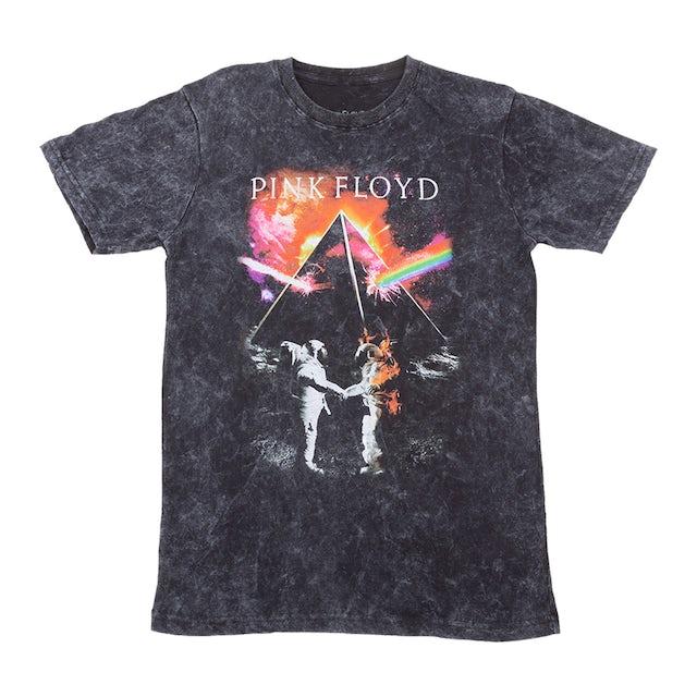 Pink Floyd Burning Astronaut Acid Wash T-shirt