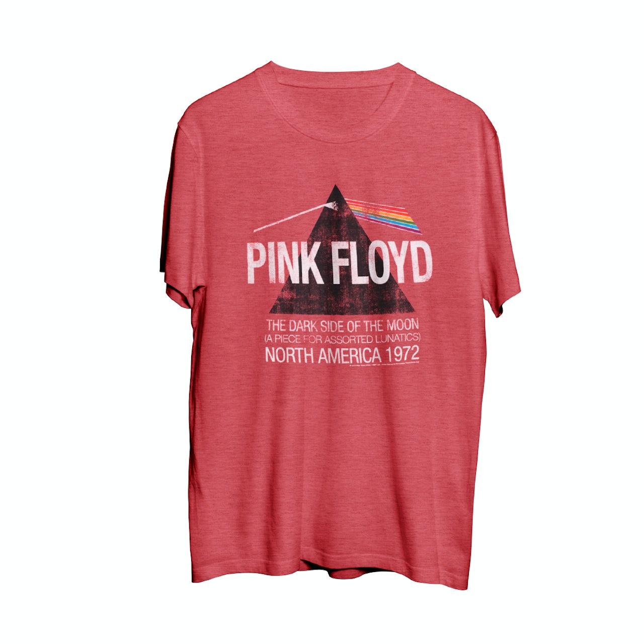 5fcd7e46 Pink Floyd North American Dark Side Red Men's Tour T-Shirt