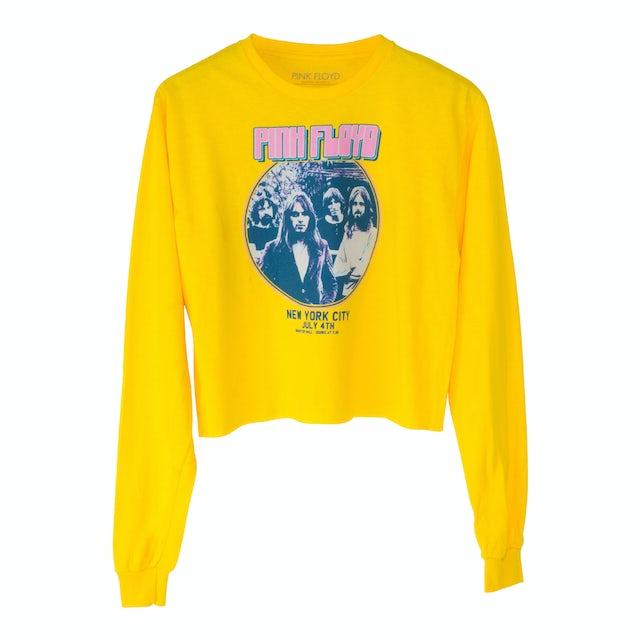 Pink Floyd Yellow Longsleeve Crop Top