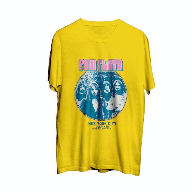 Pink Floyd New York City July 4th Circle Logo Yellow T-Shirt