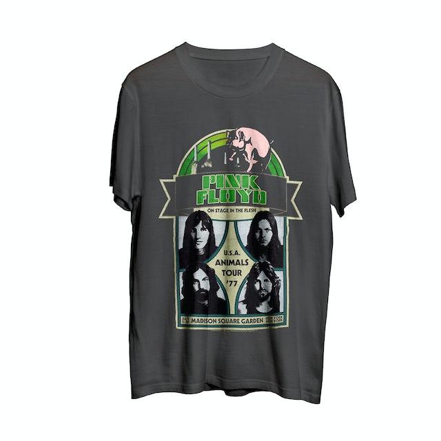 Pink Floyd Animals Tour '77 Charcoal T-shirt