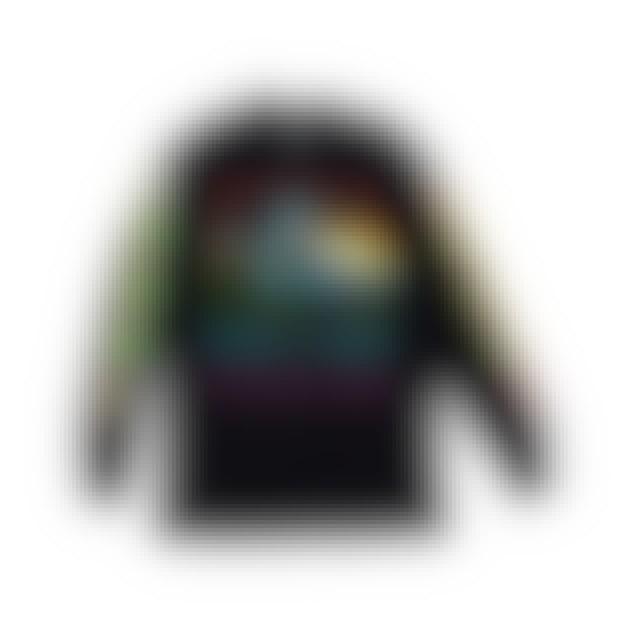 Pink Floyd The Dark Side of the Moon Rainbow Wavy Long Sleeve Black T-shirt