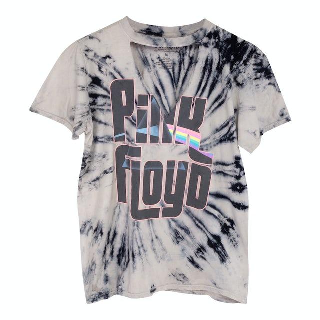 Pink Floyd Tye Dye V-Neck Cut Out T-Shirt