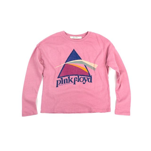 Pink Floyd The Dark Side of the Moon Glitter Prism Pink Kids Longsleeve T-Shirt