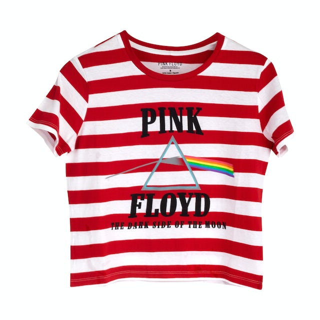 Pink Floyd The Dark Side of the Moon Red/White Striped Shirt