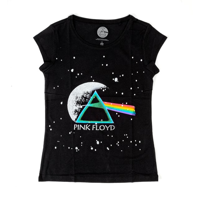 Pink Floyd Ladies Black Dark Side of the Moon T-shirt