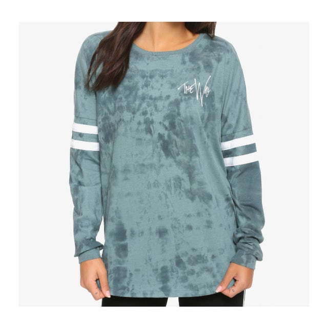 Pink Floyd The Wall Oil Wash LS Ladies Pullover Tee