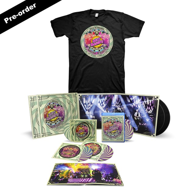 Pink Floyd Nick Mason's Saucerful of Secrets Live at the Roundhouse Set List Tee + Choice of Media Bundle