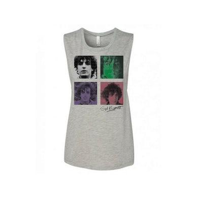Syd Barrett Women's Sleeveless Four Shades Grey T-Shirt
