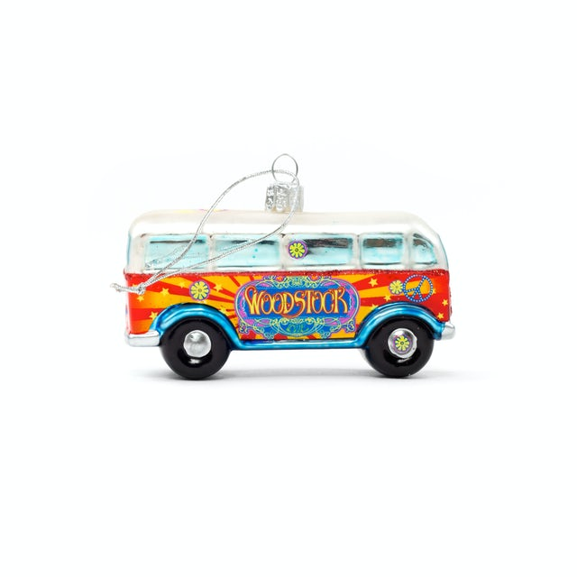 Woodstock Handcrafted Bus Christmas Ornament