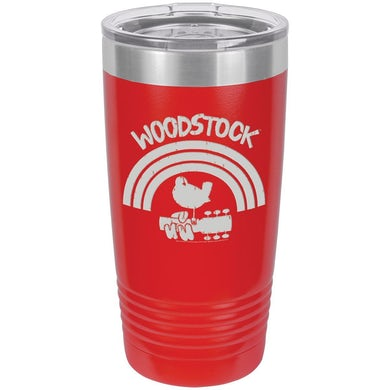 Woodstock Rainbow Logo Laser Etched Polar Camel Travel Mug