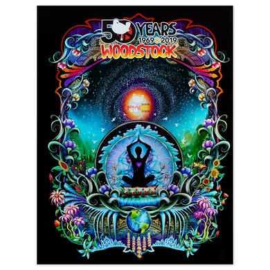 Woodstock We Are Stardust 50th Anniversary Foil Poster