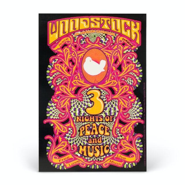 Woodstock 3 Nights Sticker