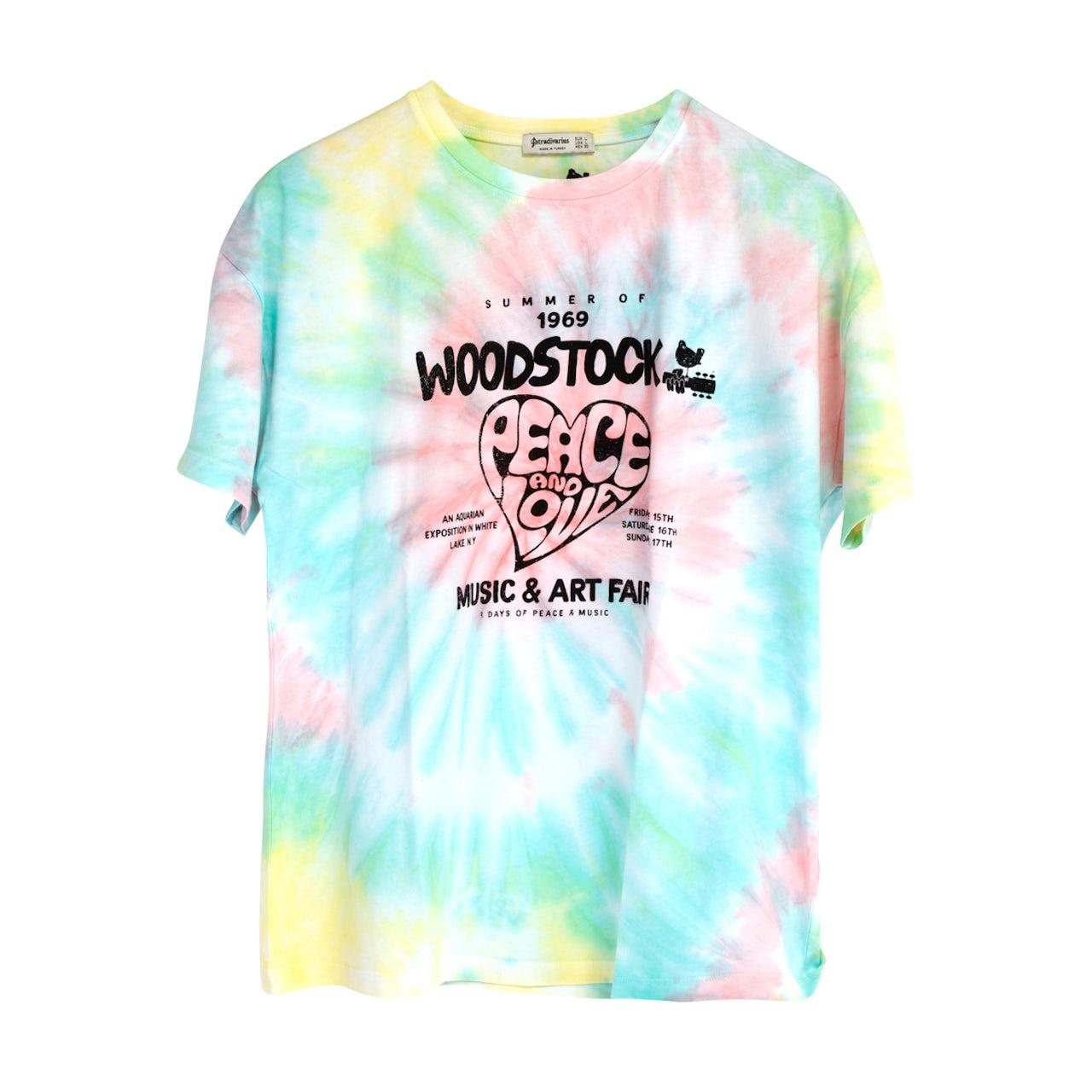 dd82c65569b04 Woodstock Tie Dye Poster T-shirt