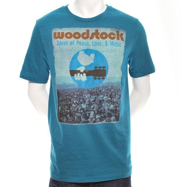 Woodstock 3 Days Of Crowd Photo T-Shirt