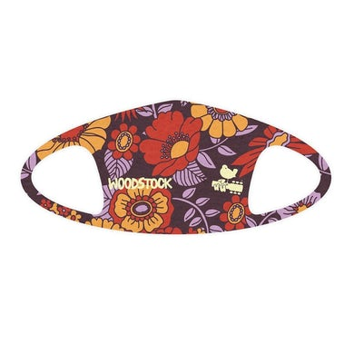 Woodstock Purple Floral Face Mask