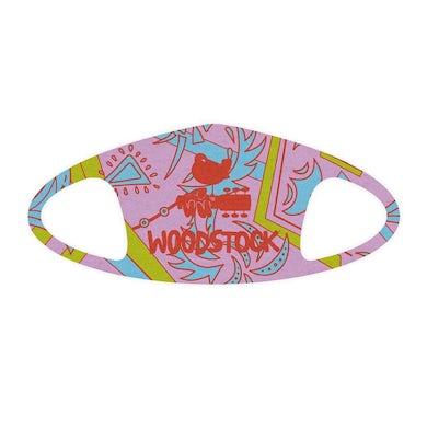 Woodstock Logo Pink Face Mask