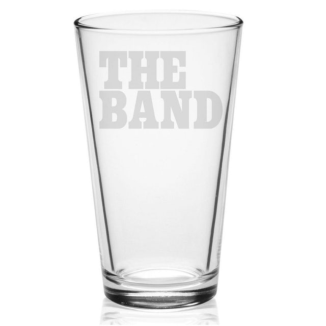 The Band Big Pink Logo Etched Pint Glass