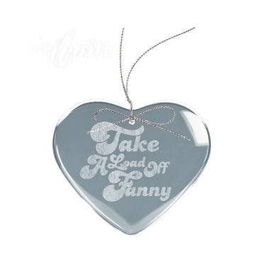 The Band Fanny Heart Laser-Etched Glass Ornament