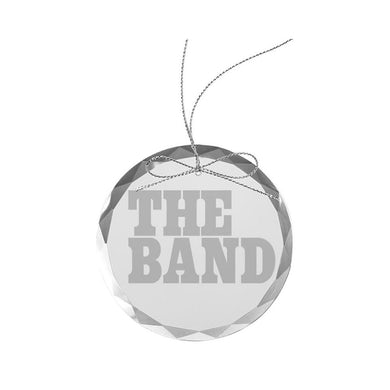 The Band Big Pink Logo Round Laser-Etched Glass Ornament