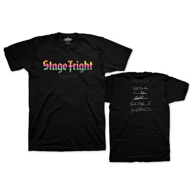The Band Stage Fright 50th Anniversary Signature T-shirt