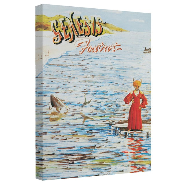 Genesis/Foxtrot Cover-Canvas Wall Art With Back Board-White-[20 X 30]