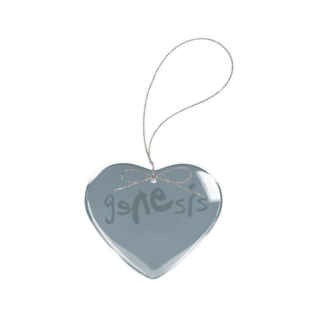 Genesis Modern Logo Heart Laser-Etched Glass Ornament