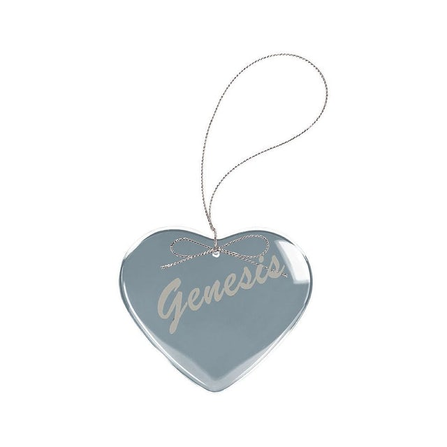 Genesis Circa 80s Logo Heart Laser-Etched Glass Ornament