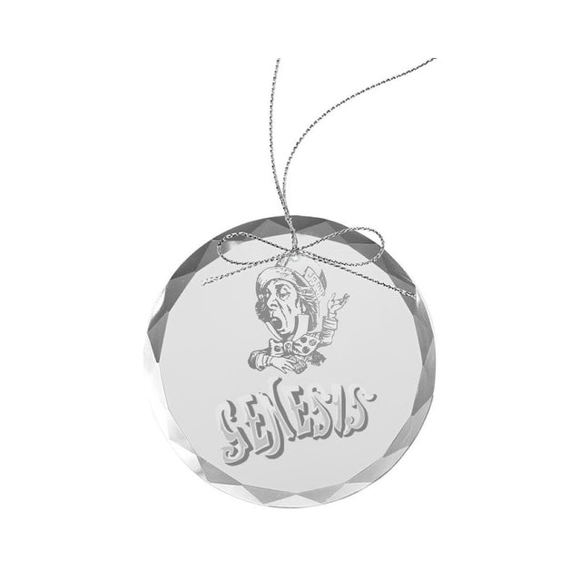 Genesis Mad Hatter Round Laser-Etched Glass Ornament
