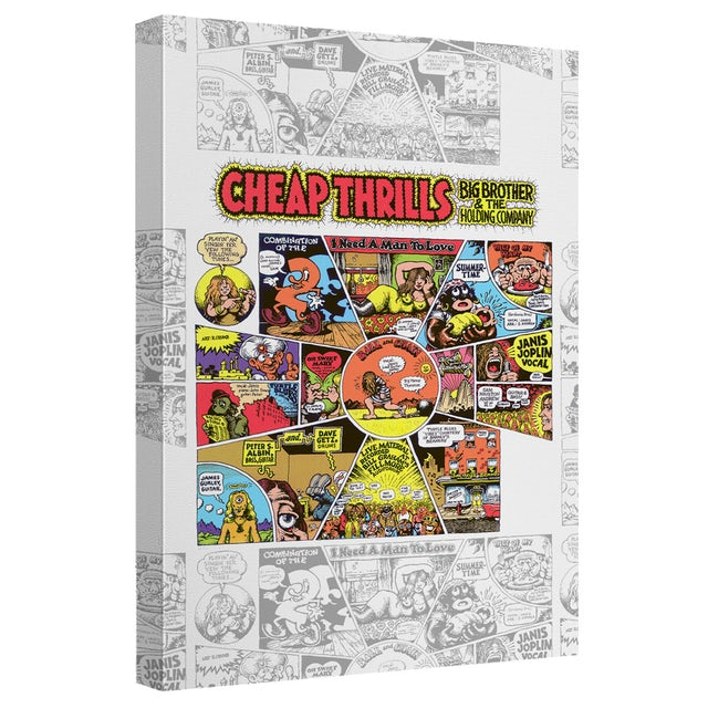 Big Brother And The Holding Company/Cheap Thrills-Canvas Wall Art With Back Board-White-[20 X 30]