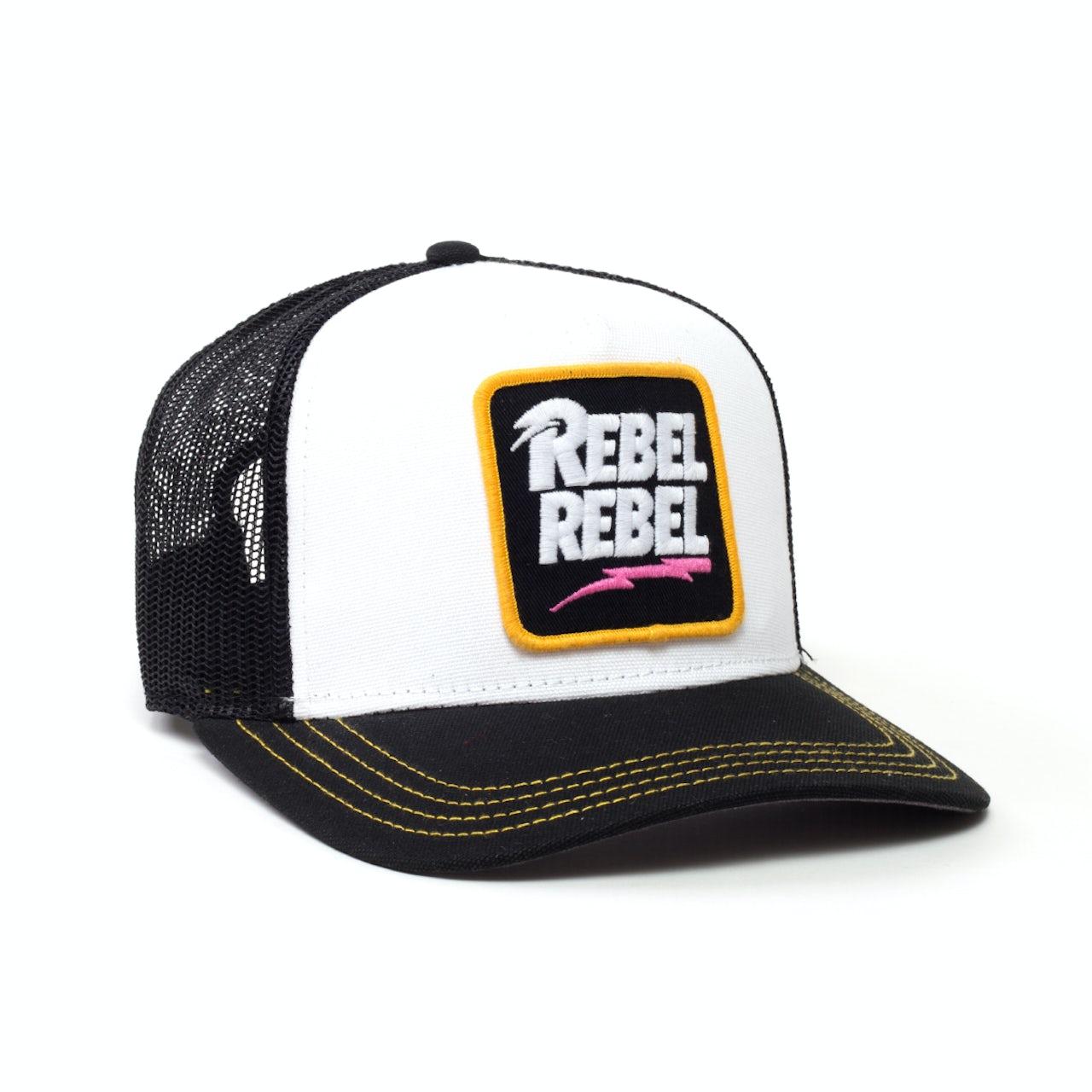 5ef0d66d71aba2 David Bowie Rebel Rebel Hat White/Black