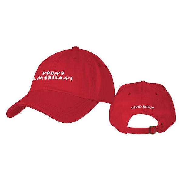 David Bowie Young Americans Red Embroidered Hat