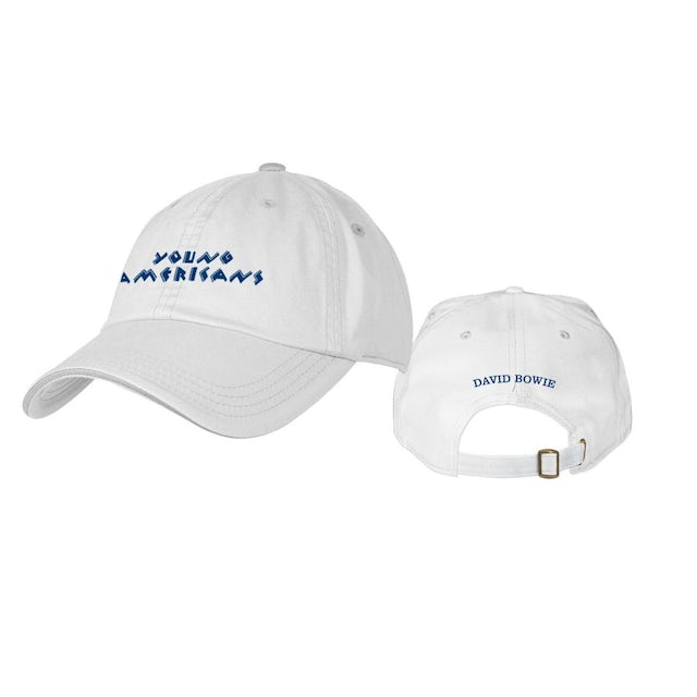 David Bowie Young Americans White Embroidered Hat
