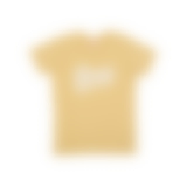 David Bowie Bowie Beige T-shirt with Thunderbolt Logo