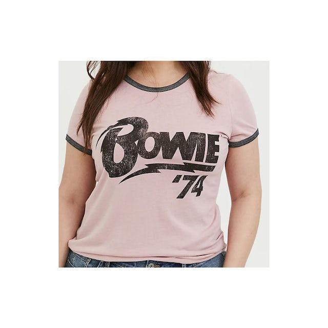 David Bowie Bowie 74 Ladies Plus Size T-shirt