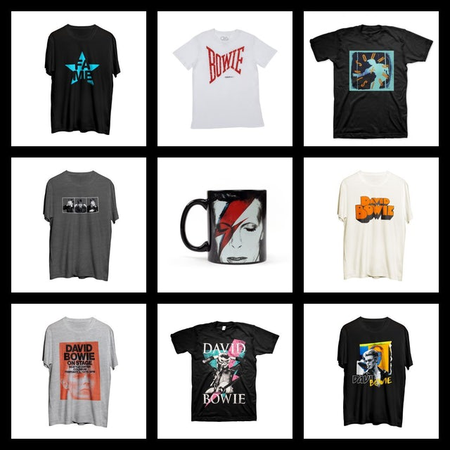 David Bowie Mens Grab Bag With Accessory