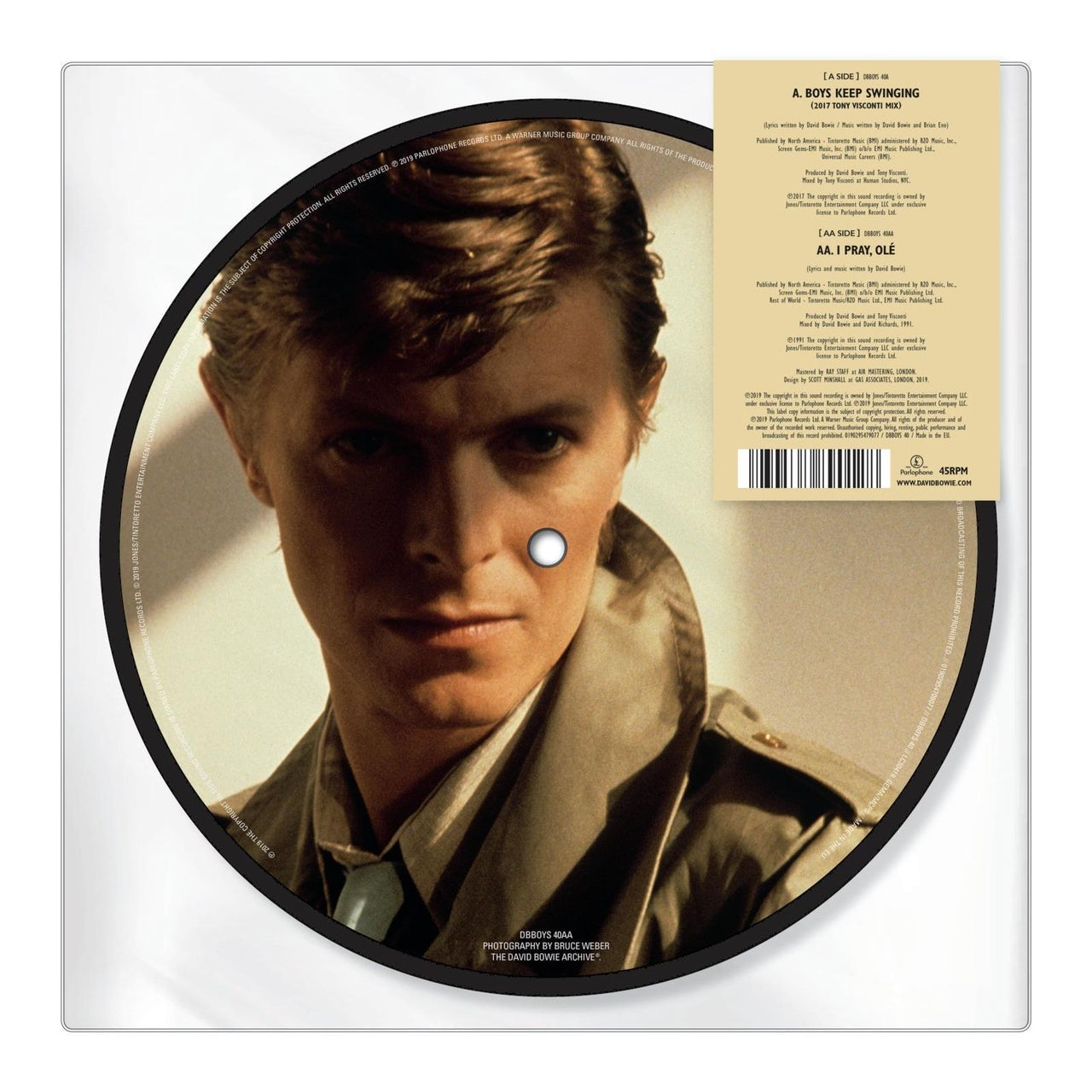 David Bowie Boys Keep Swinging 40th Anniversary Picture Disc