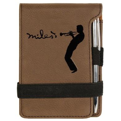 Miles Davis Brown Laser Engraved Silhouette Notepad w/Pen
