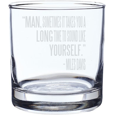 Miles Davis Sound Like Yourself Laser-Etched Whiskey Glass