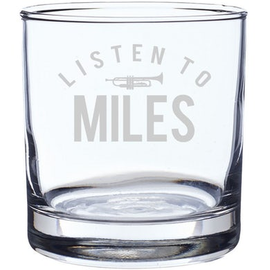 Miles Davis Listen To Miles Laser-Etched Whiskey Glass